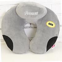 夹在脖子上的枕头u型枕套围靠枕床头护颈枕u形脖枕