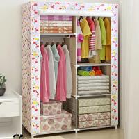 布衣柜 加固钢管简易防尘防潮组合衣橱 收纳柜抖音同款