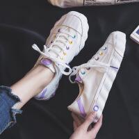 帆布鞋女学生韩版潮小白鞋2019春款鞋子夏百搭板鞋ins饼干鞋夏季百搭鞋