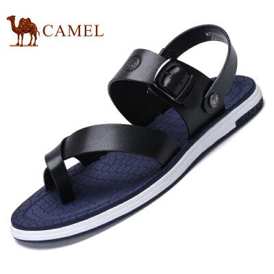 骆驼牌 男鞋 新品时尚简约舒适凉拖鞋夹趾清凉休闲鞋男