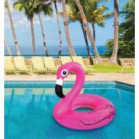 火烈鸟游泳圈加大加厚腋下圈充气救生圈水上坐骑漂流浮床 附打气筒