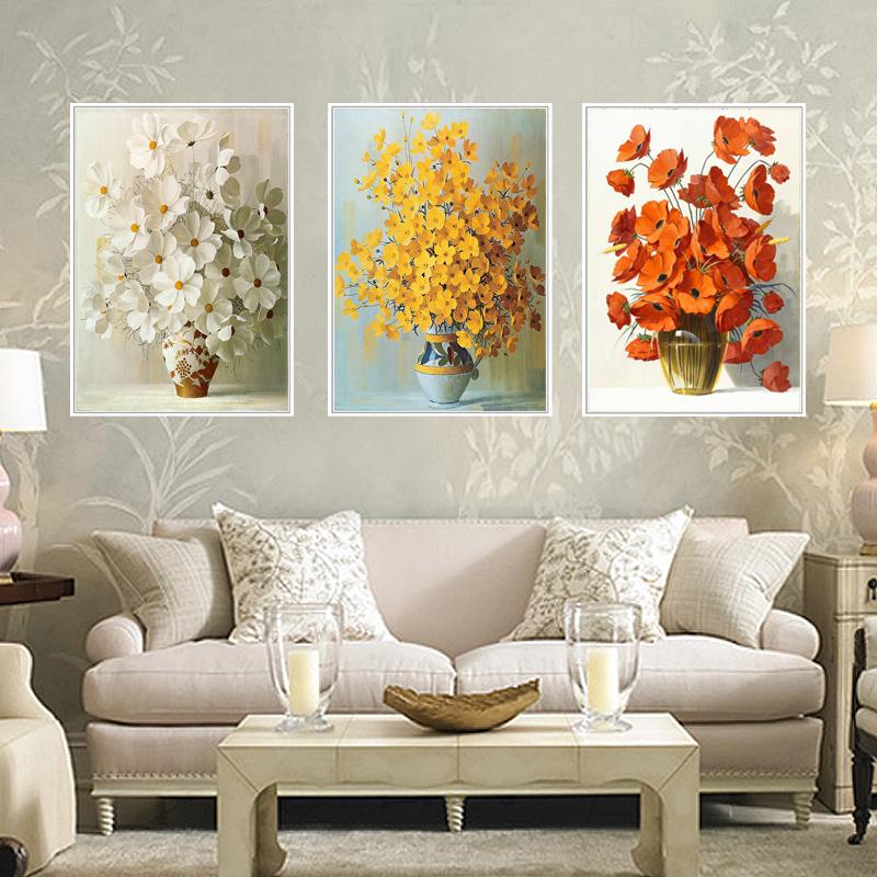 客厅装饰画三联有框画沙发背景墙挂画卧室壁画现代简约北欧式麋鹿SN9816  60x80 三拼整套价格