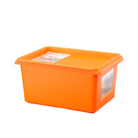 捷�N家用收纳箱塑料收纳盒衣物整理箱储物箱