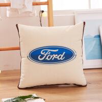 车标抱枕靠垫被多功能两用抱枕被折叠被子 43*43cm