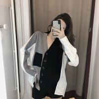 针织外套女春秋2019秋装韩版长袖宽松百搭洋气小香风秋季外套