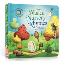 英文原版绘本 Musical Nursery Rhymes 童谣伴奏纸板发声书 含7首经典欧美儿歌 Usborne出版