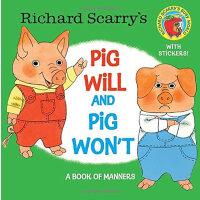 Richard Scarry's Pig Will and Pig Won't斯凯瑞:小猪愿意、小猪不愿意ISBN97