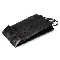 蛇皮纹手提袋黑色手挽袋钱包盒手拎袋通用袋子纸袋 黑色