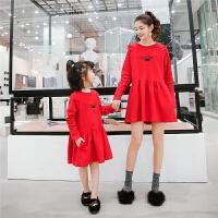 卫衣连衣裙女童春装新款亲子装韩版可爱公主裙显瘦时尚中长款