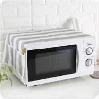 防尘罩无纺布布艺微波炉防尘防污罩 厨房烤箱防污电炉防尘盖罩
