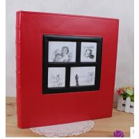 皮革婚庆家庭相册 插页式4r6寸 4D大6寸400张影集 大容量相册