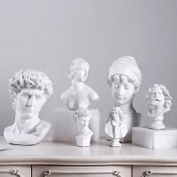 北欧大卫维纳斯素描头像树脂酒柜装饰品摆件立体经典人物雕塑摆设