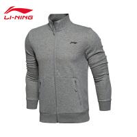 李宁卫衣男士训练系列开衫长袖外套立领针织运动服AWDL303-2