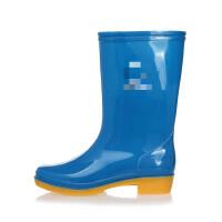 中筒高筒雨鞋男雨靴 耐酸碱水靴牛筋底劳保胶靴三防水鞋