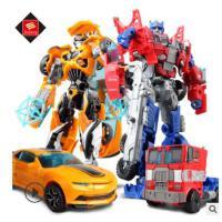 变形玩具金刚5 儿童手动变形玩具黄蜂擎天侠恐龙汽车机器人模型
