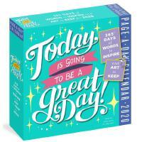英文原版 明天会是美好的*!2020年日历 每天一页 艺术字箴言 Today Is Going to Be a Gre