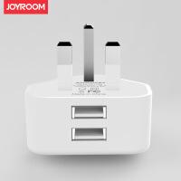 机乐堂(JOYROOM) 欧规双USB充电头安卓旅行2A快充适用于苹果手机平板充电器 白色【盒装】