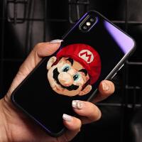 马里奥苹果x手机壳新款6plus硅胶套个性创意7plus软壳8plus玻璃壳