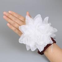 儿童头花 手花发饰头饰舞蹈 表演演出道具手腕花 白色