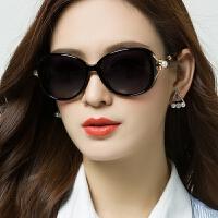 偏光太阳镜圆脸墨镜女潮明星同款可配近视眼镜方