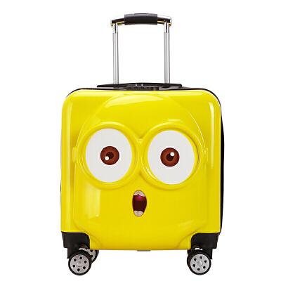 儿童拉杆箱男女小孩旅行箱万向轮小黄人卡通箱18寸20寸行李箱  18寸 发货周期:一般在付款后2-90天左右发货,具体发货时间请以与客服协商的时间为准