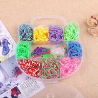 儿童彩虹编织机益智玩具环保橡皮筋女孩创意diy编织手链项链