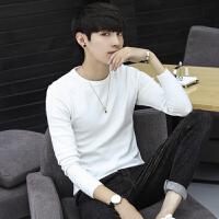 秋季韩版修身男士毛衣简约百搭韩版针织衫套头休闲打底衫薄款线衣
