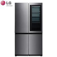 LG玺印冰箱GR-Q23FGNGM 682升大容量原装进口敲立见对开门中门冰箱 自动开门 流光银色 智能电脑控温