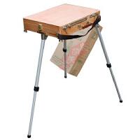马利油画箱G3101 马利牌铝合金脚油画箱 画架 油画颜料工具箱