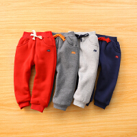 儿童棉裤 宝宝刺绣运动裤冬季男童保暖长裤