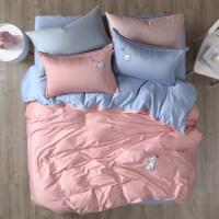 四件套全棉�棉�和�床上用品三件套60支�L�q棉1.5m被套