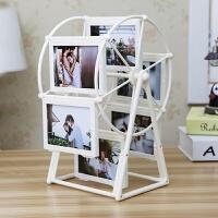 创意DIY手工定制照片风车旋转相框摆台相册结婚摆件七夕情人节