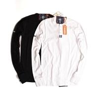Superdry/极度干燥 男士长袖t恤春季新款青年男士纯棉门桶领长袖T恤60005TNF4