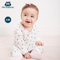 【8.19日秒杀价:41】迷你巴拉巴拉婴儿连体衣秋季新款哈衣宝宝和尚服纯棉印花爬服