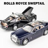 劳斯莱斯慧影合金车模1:24儿童回力金属玩具汽车摆件仿真汽车模型