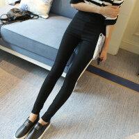 2017春款韩版女士打底裤外穿长裤高腰紧身显瘦大码薄款黑色小脚裤铅笔裤YYRY582