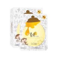 韩国春雨蜂蜜白皙保湿补水面膜(10片/盒,小猴黄色)