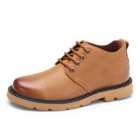 骆驼牌男鞋 秋季新品时尚擦色简约舒适男皮鞋柔软牛皮系带鞋