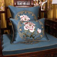 旗舰 2019网红新款 现代新中式抱枕靠垫中国风古典刺绣红木沙发家具腰枕靠枕套客厅大