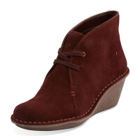 Clarks/其乐女鞋2017秋冬新款坡跟时尚休闲短靴Marsden Lily专柜正品直邮