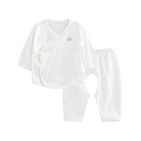 婴儿内衣套装纯棉和尚服新生儿分体睡衣开裆提花净色开裆合同套