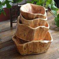 大气厚实老挝原木厚实随形根雕实木茶盘果盘木雕储物盘 16-20cm随机发货 主图已售