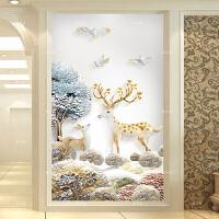 钻石画麋鹿卧室十字绣贴点钻石绣2017新款餐厅满钻客厅简约现代5d