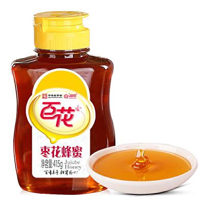 中华老字号 百花牌枣花蜂蜜415g瓶初秋滋补 选百花