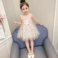 女童�B衣裙2018夏�b新款中小童�n版夏季小女孩裙子�r尚洋�夤�主裙 白色