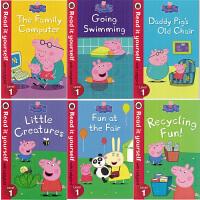 英文原版绘本Peppa Pig Read it yourself with Ladybird Level 1粉红猪小妹