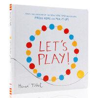 【满300-100】英文原版绘本 Let's Play 埃尔维杜莱 Herve Tullet 给孩子的儿童艺术启蒙书精装