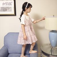 女童碎花吊带裙2017夏装新款中小童裙子韩版童装儿童中长款连衣裙