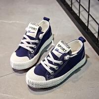 儿童帆布鞋男女童亲子鞋母子小白运动单球鞋