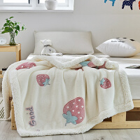 �和�毛毯�p�蛹雍穸�季羊羔�q小被子幼��@午睡������荷汉鹘q毯子 100cmx150cm�w被/� 床�捎�